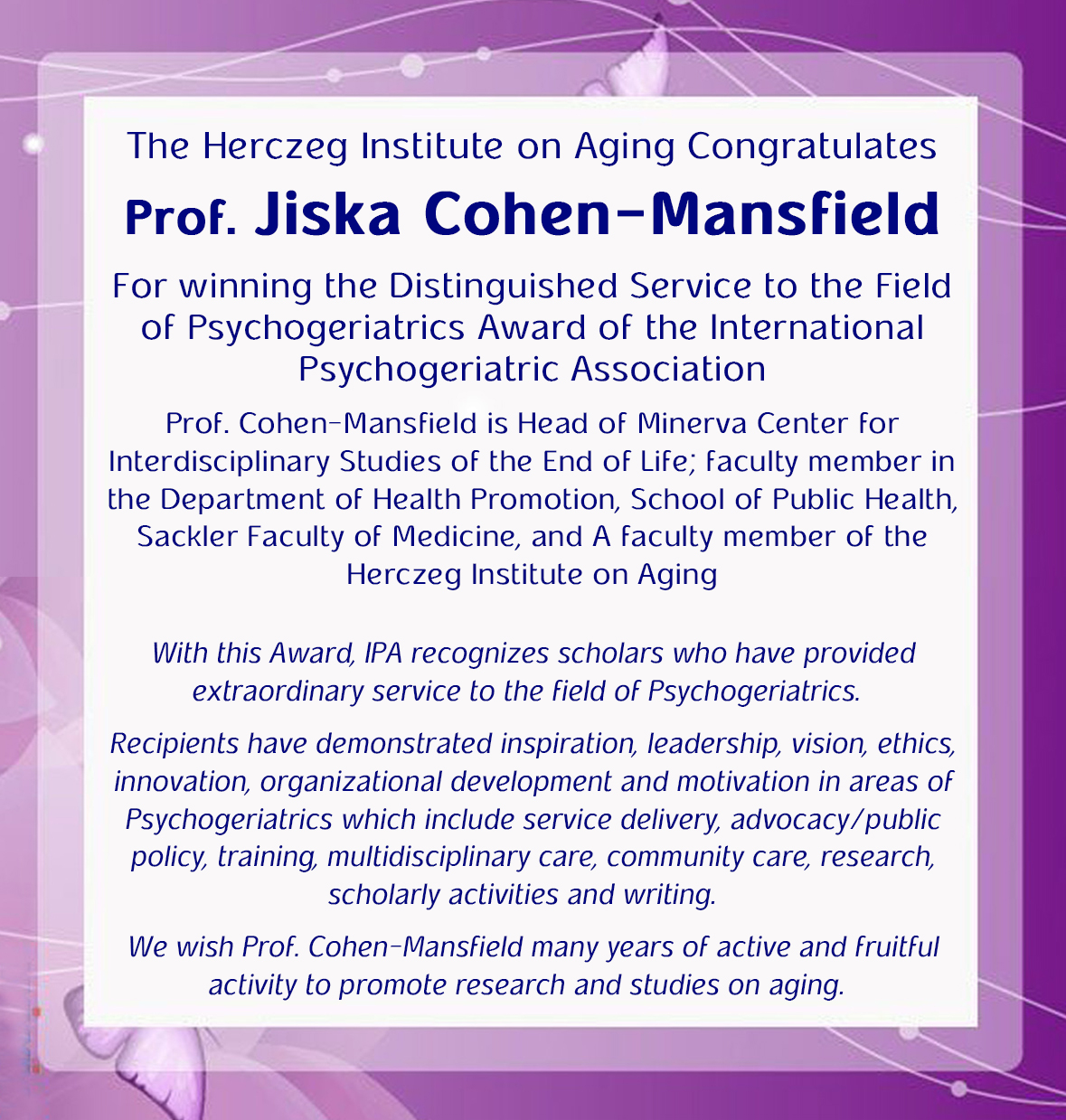 Jiska Award International Psychogeriatric Association 2015 Eng